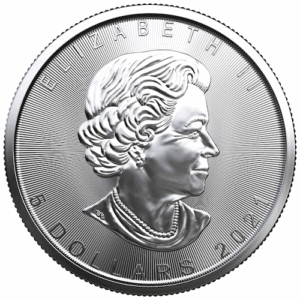 2021 Royal Canadian Mint 1 oz Silver Maple Leaf Coin