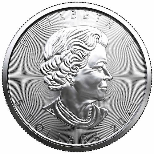 1oz silver maple coin back