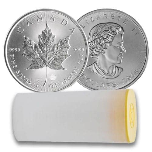Royal Canadian Mint Tube of Silver Maples
