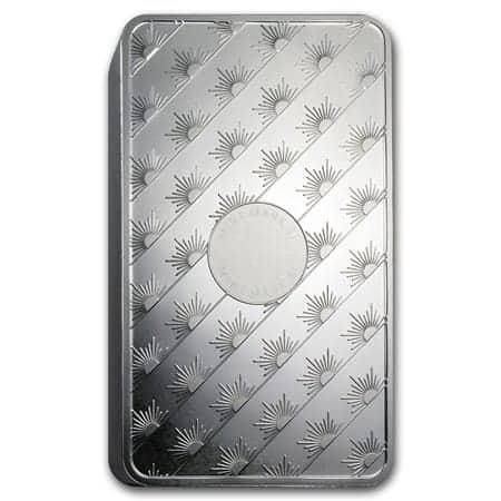 100 oz Sunshine Mint Silver Bar Description Back