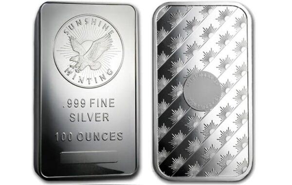 Sunshine Mint 100 oz Silver Bar