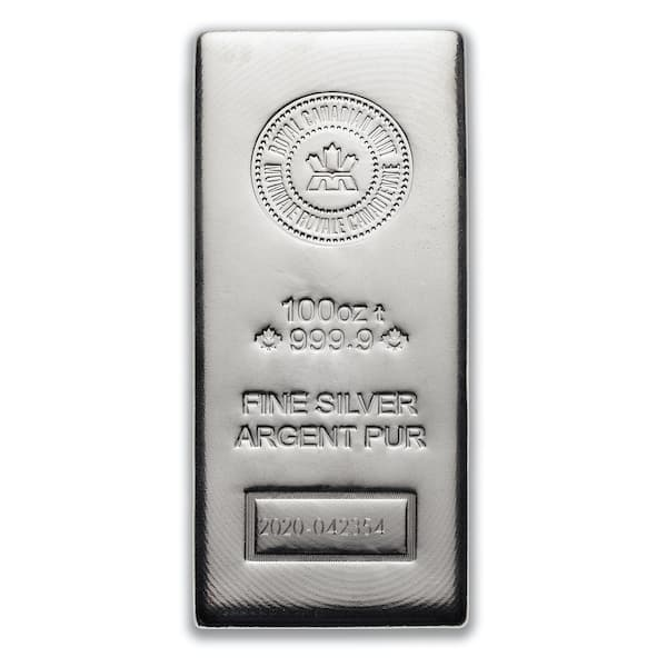 100oz rcm bar silver