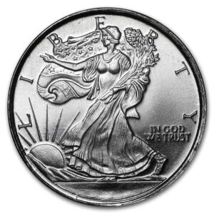 1_10 oz Walking Liberty Silver Round Front