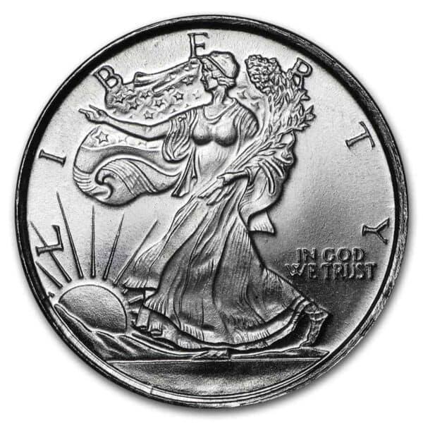 1_10 oz Walking Liberty Silver Round Front