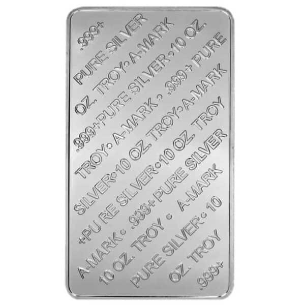 A-Mark 10 oz Silver Bar Back