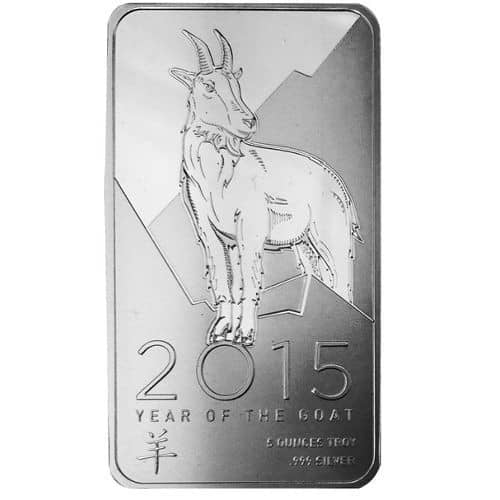 NTR Year of the Goat 10 oz Silver Bar Front