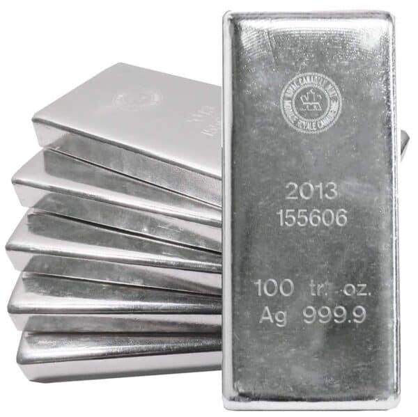 RCM 100 oz Silver Bars