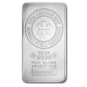 Royal Canadian Mint 10 oz Silver Bar