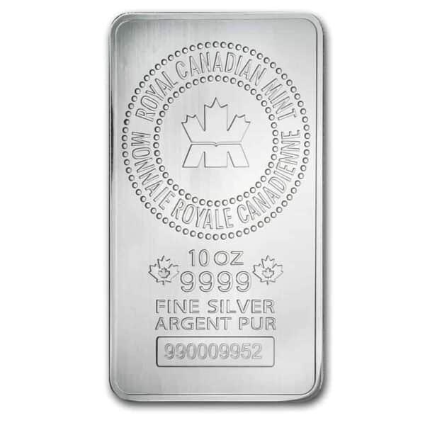 RCM 10 oz Silver Bar front