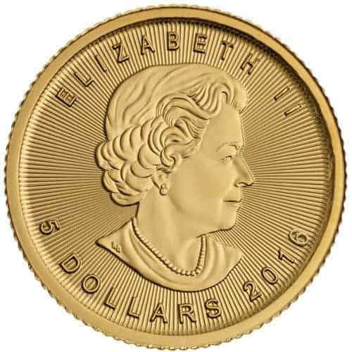 RCM fractional gold coin