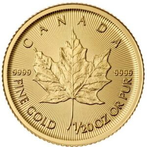 Royal Canadian Mint 1/20 oz Gold Maple Leaf Coin