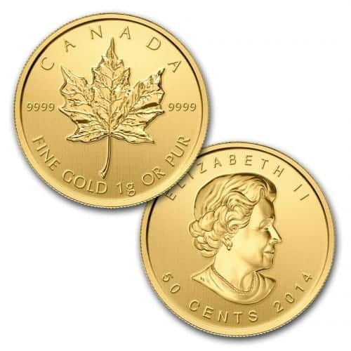 Royal Canadian Mint 1 Gram Gold Maple Leaf Coin