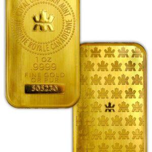 Royal Canadian Mint 1 oz Gold Bar