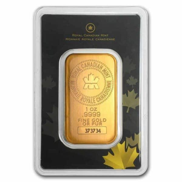 Royal Canadian Mint 1 oz Gold Bars Front
