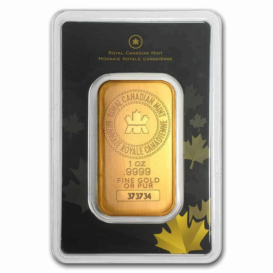Royal Canadian Mint 1 Oz Gold Bars