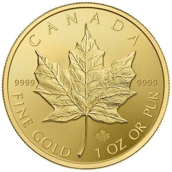 Royal Canadian Mint 1 oz Gold Maple Leaf Coin Back
