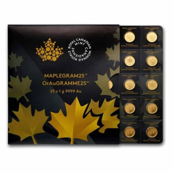 Royal Canadian Gold Mint Maple 25 Grams