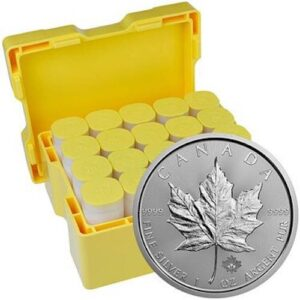 Royal Canadian Mint 1 oz Silver Maple Leaf Coin Monster Box