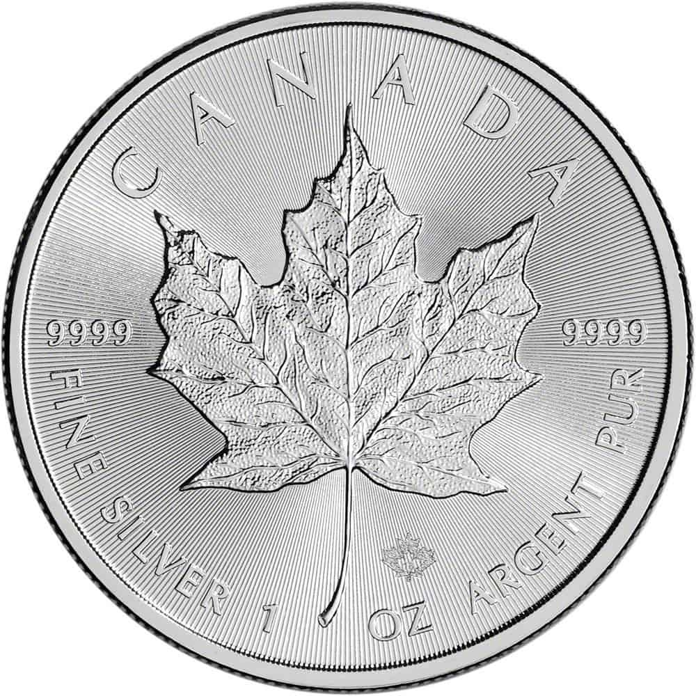 Monster Box Silver Maples Canadian Maple Leaf Silver
