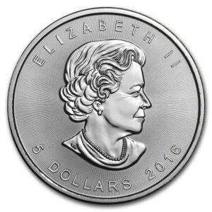 Royal Canadian Mint 1 oz Silver Maple Leaf Coin (Random Date)