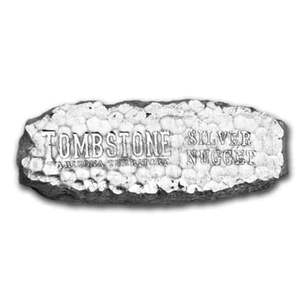 Scottsdale Mint 10 oz Tombstone Nugget Silver Bar