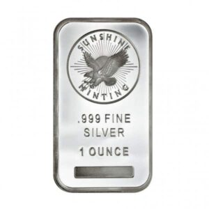 Sunshine Mint 1 oz Silver Bars Front