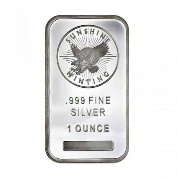 Sunshine Mint 1 oz Silver Bars Front