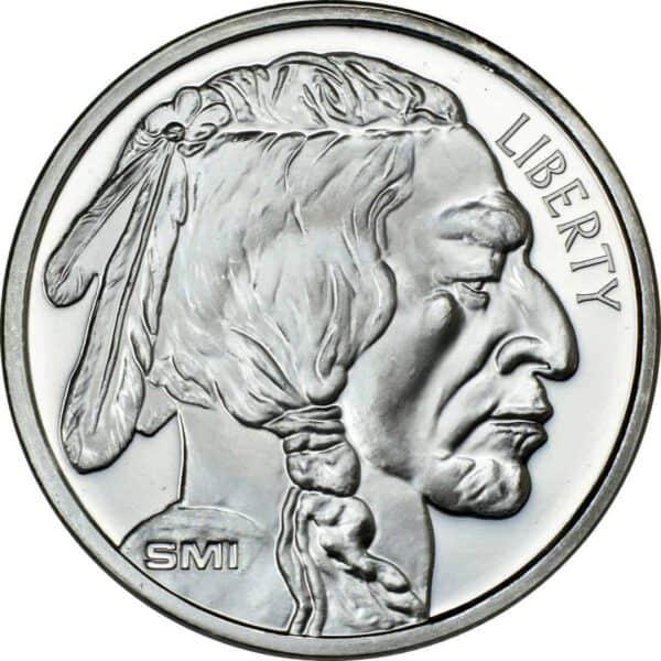 Sunshine Mint 1 oz Buffalo Silver Rounds Front