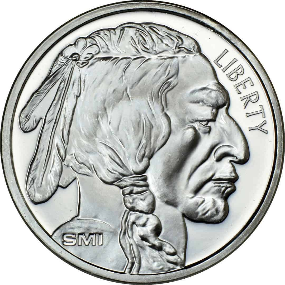 Sunshine Mint 1 oz Buffalo Silver Rounds Front