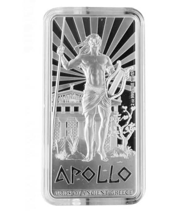 2 oz 2015 Gods of Ancient Greece | Apollo Silver Proof Coin