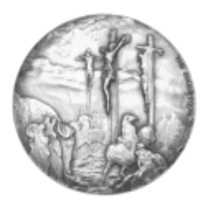 2 oz 2015 Biblical Series | The Crucifixion Silver Coin back