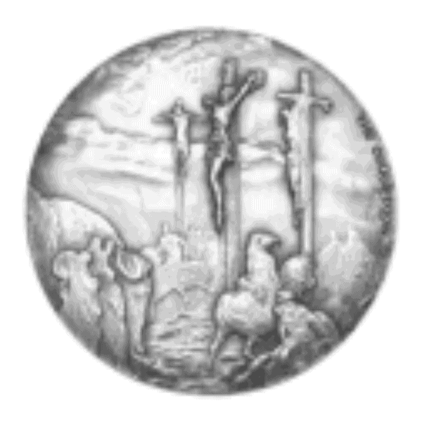 2 oz 2015 Biblical Series | The Crucifixion Silver Coin back