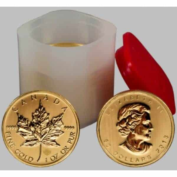 Royal Canadian Mint 1 oz Gold Maple Leaf Coin Tubes