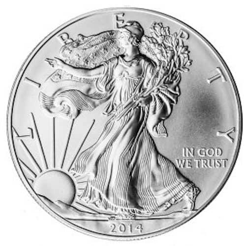 1oz Silver liberty coin front