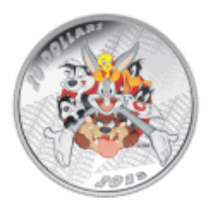 1 oz 2015 Looney Tunes™ Merrie Melodies Silver Proof Coin Back