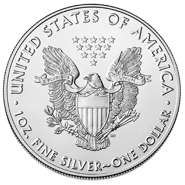 Silver Eagle 1oz Back