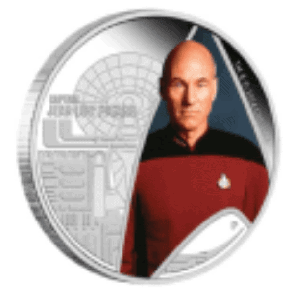1 oz 2015 Star Trek Captain Jean-Luc Picard Silver Proof Coin back