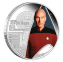 1 oz 2015 Star Trek Captain Jean-Luc Picard Silver Proof Coin back