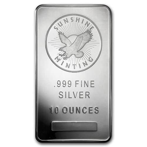 10 OZ Sunshine Mint silver