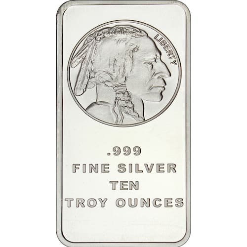 Buffalo 10 oz Silver Bar