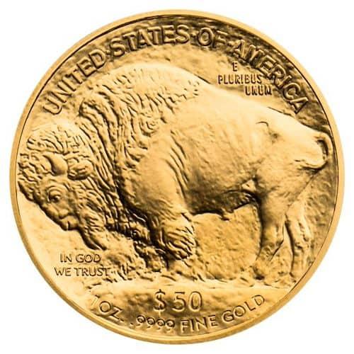 Buffalo 1 oz gold coin back