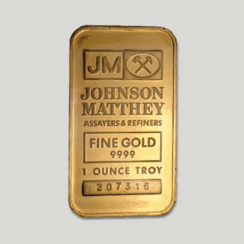 JM 1 oz gold bar