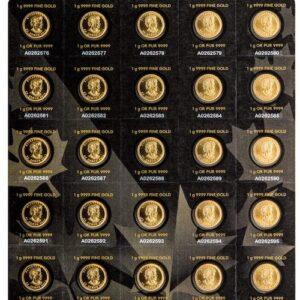Royal Canadian Mint Gold Maplegram Pack (25 gram Pack)