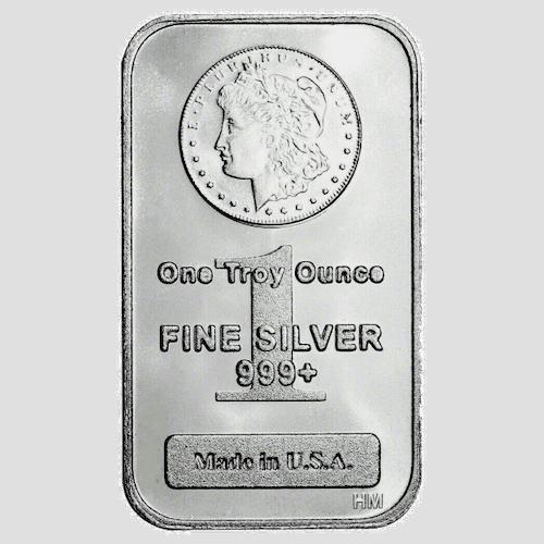 Morgan 1oz silver bar