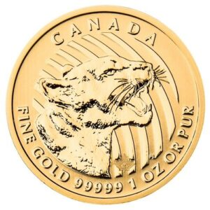 Royal Canadian Mint 1 oz Gold Cougar Coin
