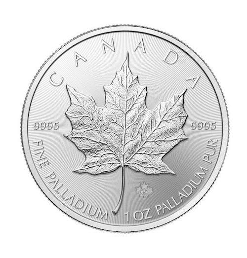 RCM 1 oz palladium coin front