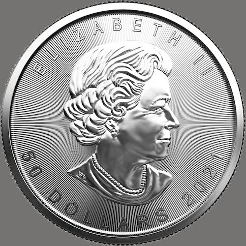 RCM 1 oz platinum coin back