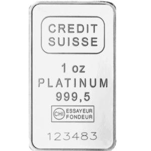 Suisse 1 oz Platinum Bar