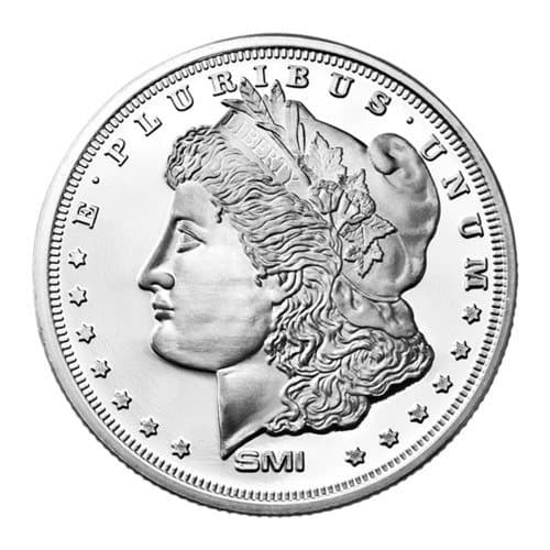 Sunshine Mint 1 oz Morgan Silver Rounds Front