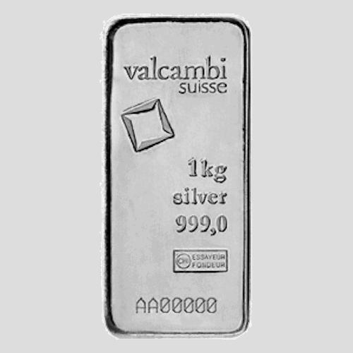Valcambi 1 kilo silver bar